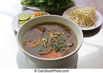 Pho Vietnamese noodle - Traditional Vietnamese 's Beef...