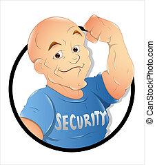 Security Guard - Creative Abstract Conceptual Design Art of...