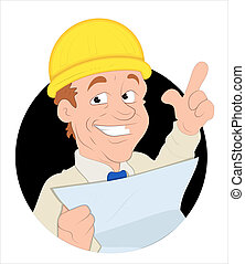 Foreman Vector Illustration - Conceptual Creative Artistic...