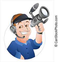 Cameraman Vector - Creative Abstract Artistic Design Art of...