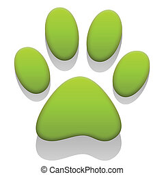 Paw Print - Illustration paw prints as a symbol for the...