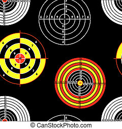 targets for practical pistol shooting, seamless wallpaper, vector illustration