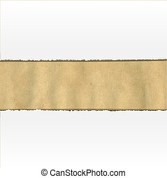 Old Ripped Paper With White Paper, Vector Illustration