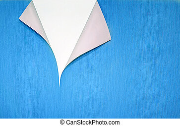 paper with curled corner and copyspace