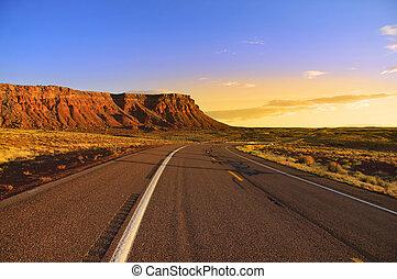Vermilion cliffs - Scenic road through Vermilion cliffs in...