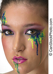 Cosmetics - Girl with beautiful make up