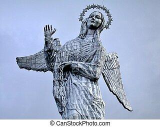 Statue in quito Ecuador - Virgin Mary statue in Quito...