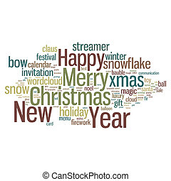Christmas Tag Cloud - New Year and Christmas Concept from...