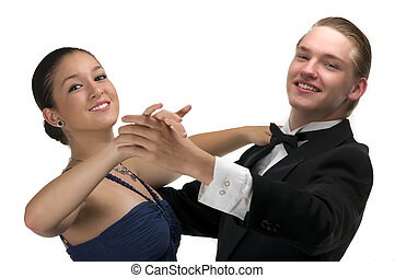 Dance - A young modern couple dancing