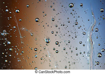 Waterdroplets and colours - Macro picture of water droplets...