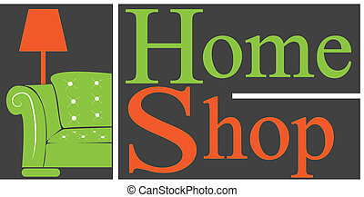 vector logo home shop