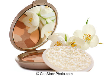 compact powder - colorful compact powder with jasmin