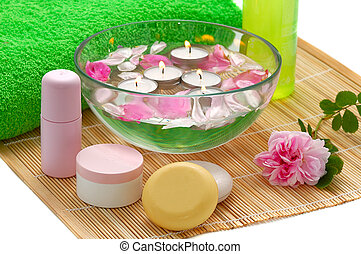 green and pink spa