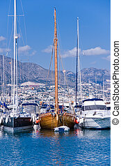 Fuengirola port - boats in Fuengirola port, Spain