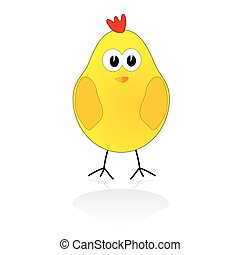 sweet and cute chicken vector illustration