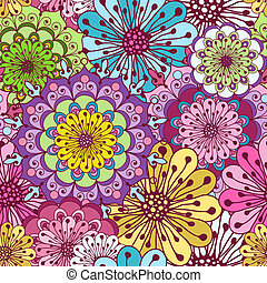 Seamless floral pattern - Seamless floral vivid pattern with...