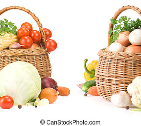 蔬菜, 食物, 籃子
