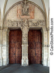 entrance in Muenster - architectural detail in Muenster, a...