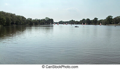lake in North Rhine-Westphalia - a lake in North...