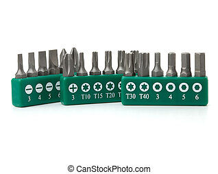 Set of heads for screwdriver - Tools collection - Set of...
