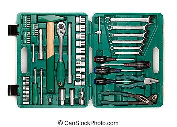 herramientas, caja de herramientas