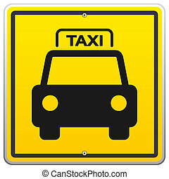 Taxi Sign in New York - Illustration of Yellow Taxicab...