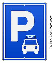 Blue Vector Parking Sign