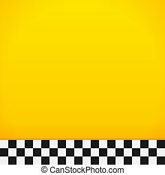 Taxi Checkerboard Pattern - Bottom tiles full of yellow and...
