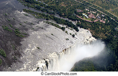 Victoria falls - Aerial view of the Victoria Falls