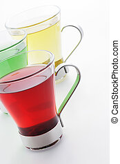 Tea - Cups of tea on white background