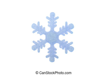 Plastic snow flake