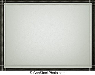 Gray leather background with stitched black border frame