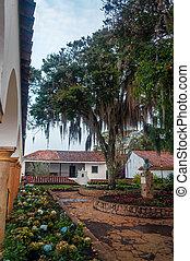 Beautiful Monastery Courtyard - Beautiful courtyard of a...