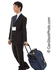 young businessman on a business trip - This is a picture of...