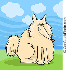 Eskimo dog cartoon illustration - Cartoon Illustration of...