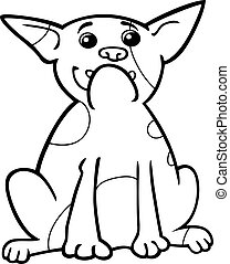 french bulldog cartoon for coloring - Cartoon Illustration...