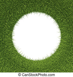 Green grass pattern with hole