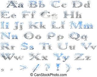 alphabet frosty