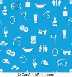 bathroom seamless pattern