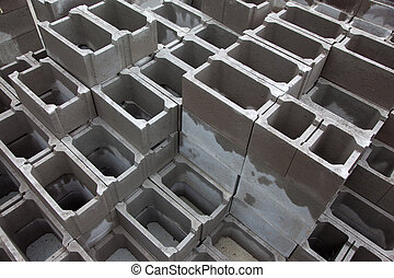 Concrete blocks for bulding construction