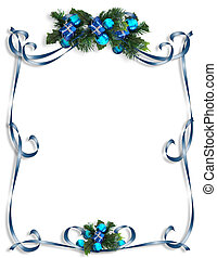 Christmas, Hanukkah Frame - Image and digital illustration...
