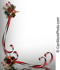 Christmas Border Frame 3D - Image and Illustration...