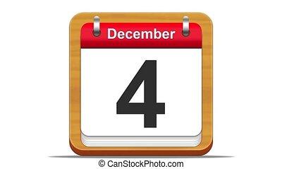 December. - December calendar.