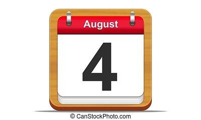 August. - August calendar.