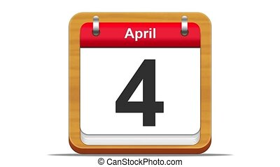 April. - April calendar.