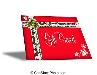 Christmas Gift Card Red - Image and Illustration composition...