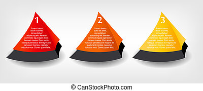 Concept of colorful banners for different business design. Vector illustration
