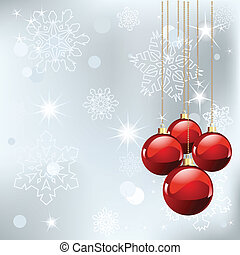 Christmas place card - Christmas place card with red balls...