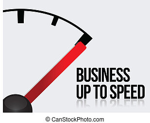 Business up to speed concept