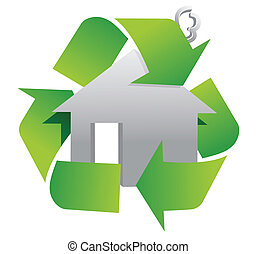 recycle sign symbol illustration
